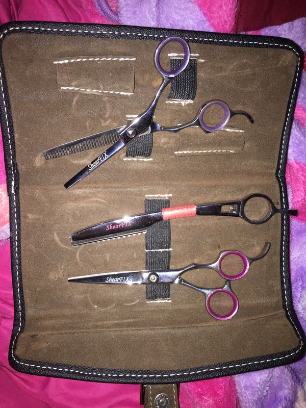 ShearFIX Professional hair cutting scissors And straight blade