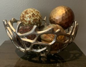 Silver Bowl with Colorful Balls for Sale in Bothell, WA