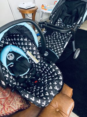 Mickey stroller and car seat BUNDLE for Sale in Lexington, KY