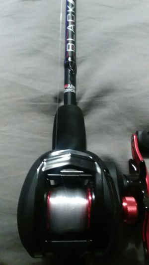 Abu garcia black max rod and reel for Sale in Columbus, OH