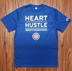 CHICAGO CUBS HEART HUSTLE BROTHERHOOD WORKOUT SHIRT, SIZE L for Sale in Scottsdale, AZ