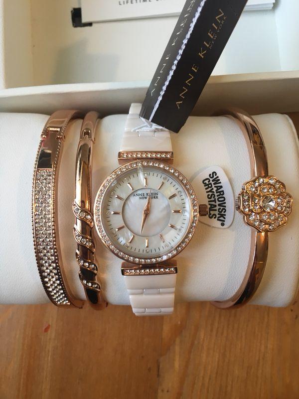 88f9524cd Womens Anne Klein WATCH 12/2274RGST 30mm Ceramic Watch + Bracelets ...