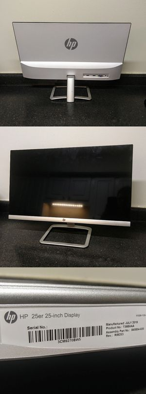 HP 25er Monitor for Sale in Durham, NC