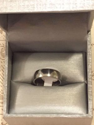 Unisex Sterling Silver Engagement Ring for Sale in Dallas, TX