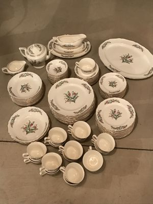 Antique Canonsburg Gold Boarder China 90 Piece Set for Sale in Aliquippa, PA