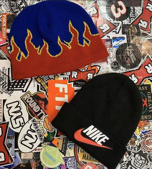 Disco inferno beanie and supreme x Nike beanie for Sale in Oakland, CA