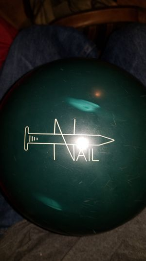FABALL Nail 15 POUNDS Bowling Ball Hard Shiny Blue Urethane for Sale for sale  Los Angeles, CA