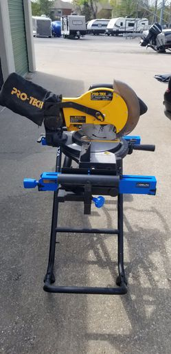 Pro-Tech Compound Miter Saw With New Delta Portable Work Station. for Sale in Flower Mound, TX