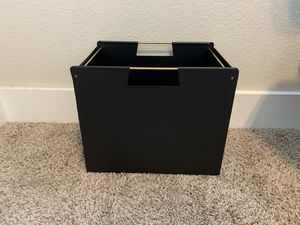Metal file storage bin from target, black and gold for Sale in Austin, TX