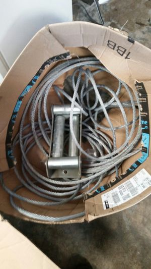 "100 ft 3/8"" winch cable. No breaks. Has hook and roller fairlead. for Sale in Shingle Springs, CA"