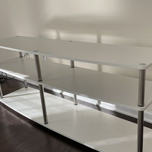 TV STAND WHITE IKEA SHELVES for Sale in Raleigh, NC