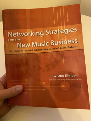 Book, Networking Strategies for the Music Business for Sale in Los Angeles, CA