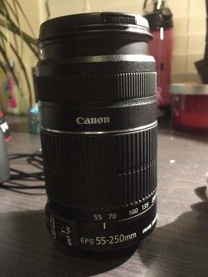 55-250mm canon lense for Sale in Houston, TX