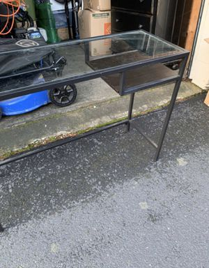 Glass desk and mirror for Sale in Lake Oswego, OR