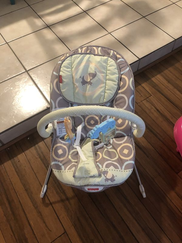Graco baby swing, fisher price seat, first years bath, summer infant booster play