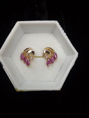 Ruby earrings for Sale in Oak Grove, OR