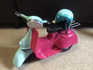 Our Generation Doll scooter with helmet (can be used with American Girl dolls) for Sale in Amherst, OH