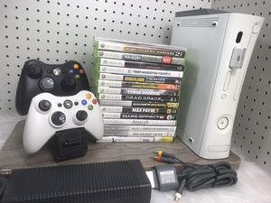 Xbox 360 Bundle w Controllers & 17 Games for Sale in Albuquerque, NM