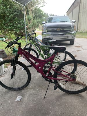 Three mountain bikes two of them are mongoose for Sale in Brooksville, FL