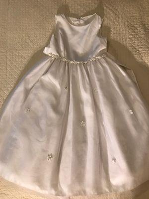 Child size 7 White dress, communion dress, flower girl dress for wedding for Sale in Orlando, FL