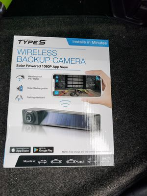 Type S Solar Powered HD Quick-Connect Wireless Backup Camera for Sale in Hammond, IN