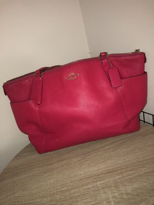 Pink Leather Coach Handbag for Sale in Charlotte, NC