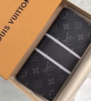 Authentic New Louis Vuitton Brazza Monogram Eclipse Wallet (now available for pickup in NY & SHIPMENT worldwide) for Sale in Queens, NY