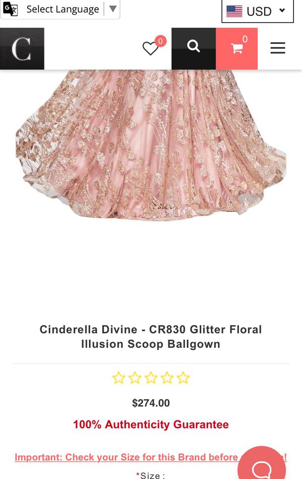 Prom blush pink gold sparkly gown evening dress