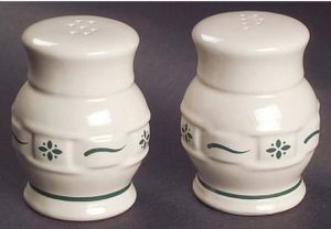 Longaberger Woven Traditions Green Salt & Pepper Shakers - Brand New for Sale in Huntington Beach, CA