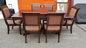 Dinning room table w/leaf ext 6 chairs and server/buffet for Sale in Manassas, VA