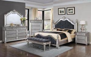 Oooopulent Silver Bedroom Set for Sale in Arlington, VA