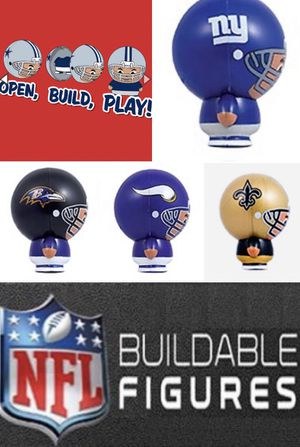 "2"" NFL Football Buildable Figures Vending Machine Toys - NEW EXCELLENT CONDITION! 3 For $5!! for Sale in Citrus Heights, CA"