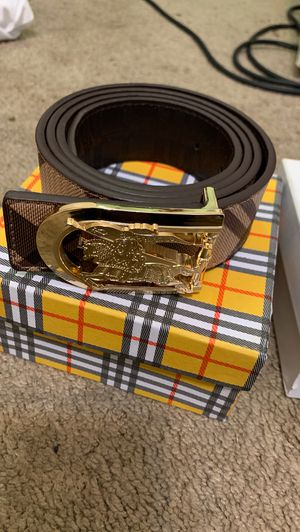 Burberry and Versace belt size 34-42 for Sale in Raleigh, NC