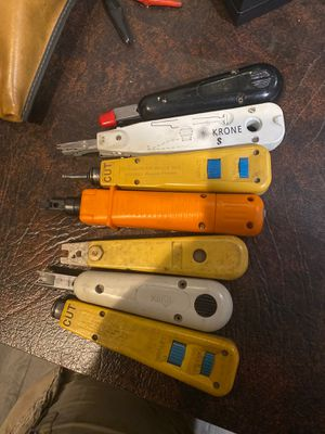 7-Punch Down tools type idc network wire cuter for Sale in Hemet, CA