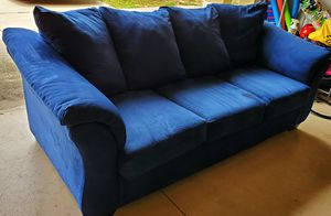 Comfy Dark Blue Sofa for Sale in Clermont, FL