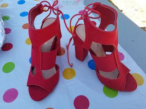 Womens red heels size 7 for Sale in Fresno, CA