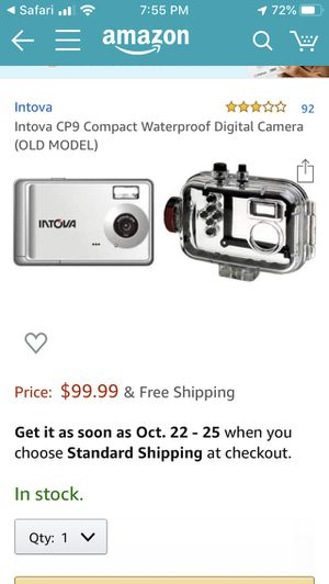 Intova CP9 Compact Waterproof Digital Camera for Sale in Chandler, AZ
