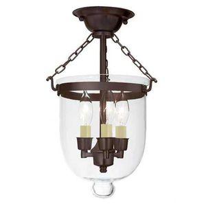 JVI Designs 1015-08 Small semi flush bell jar lantern with clear glass - light for Sale in San Bernardino, CA