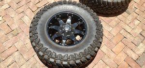 (4) 17x10 Fuel Wheels Rims (6 LUG )With 35x12.5 R17LT ATTURO TIRES for Sale in Miramar, FL