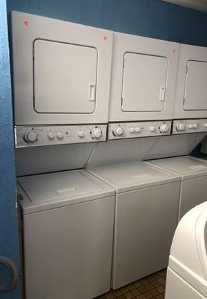 Apartment size GE stackable washer and electric dryer for Sale in San Diego, CA