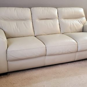 3 + 2 Beige Leather Seater Sofa for Sale in Herndon, VA