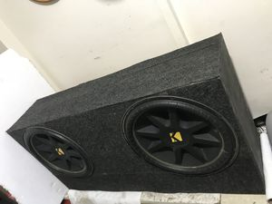 (2)Two 1000watt Kicker 15s custom built MDF box $150 PRICE IS FIRM AND FINAL! for Sale in Washington, DC