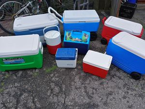 Different size coolers for Sale in Pawtucket, RI