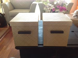 Set of 2 storage boxes..... for Sale in Los Angeles, CA