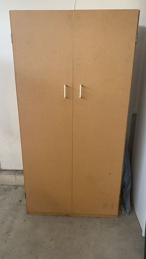 Storage cabinet, 3 shelves, composite wood for Sale in Dana Point, CA