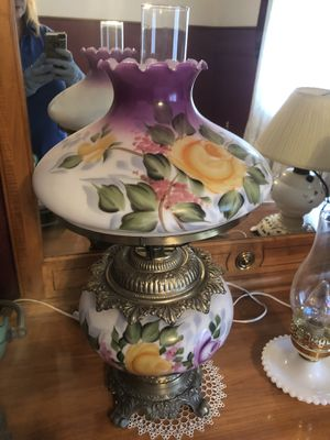 Antique hand painted lamp for Sale in St. Louis, MO