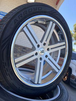 """(4) BLACK RHINO RIMS 22"""" for Sale in Anaheim, CA"""