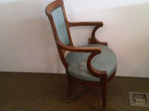 Antique Tiffany blue leather desk chair for Sale in Newport Beach, CA