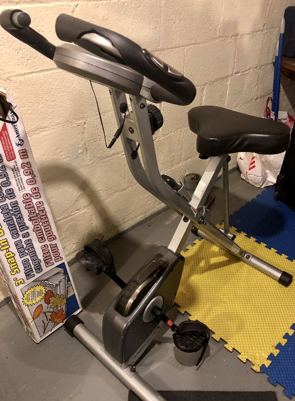 Exerpeutic Folding Magnetic Upright Bike Pulse Fitness Sports Exercise Bikes