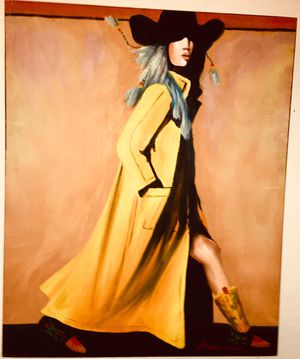 Gorgeous modern pop art original signed oil painting; H28xW22 inch; unframed for Sale in Chandler, AZ